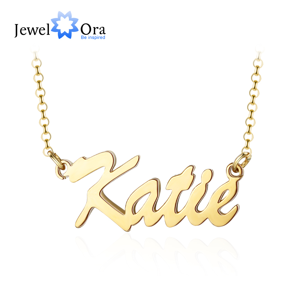 Personalized Name Necklace Customized Letter Nameplate Necklaces for Women Girls Custom Personalized Jewelry Gifts (NE103604)