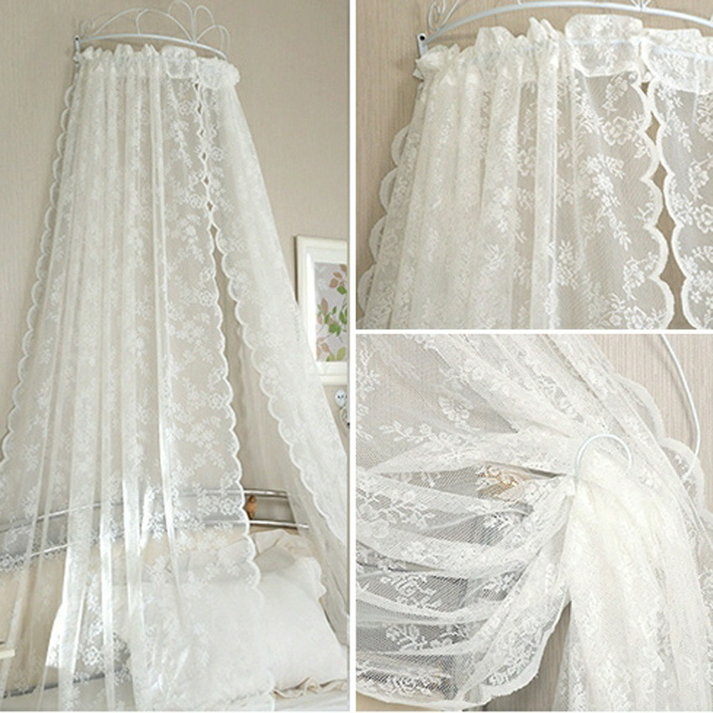 Lace Curtains Voile Window Tulle Curtains Insect Bed Canopy Netting Drape Panel Leaf Door Window Sheer Curtain for Living Room