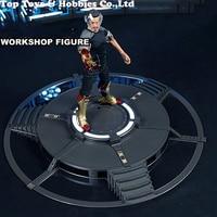 DIY 1/6 Iron Man Tony Workshop Scene Armor Testing Workshop Figure TB072 LED Indicator Remote Control F 12 inches figure doll