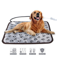 Pet Dog Cat Winter Warm Electric Heated Pad Mat Carpet For Animals Pet Waterproof Plush Bed Blanket Heater Carpet Heating Pad square multifunctional plush heated electric blanket pet heating pad safety thermostat warm carpet heating office chair cushion