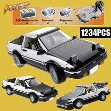 Novo controle remoto rc cidade carro de corrida ae86 blocos de construção drift racing carro tijolos brinquedos para crianças meninos presente do miúdo