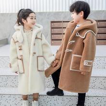 2020 Winter New Real Fur Coats Casual Sheep Shearing Plush Warm Hooded Jackets Lamb Fur Kids Wool Outerwear Overcoats Y3589