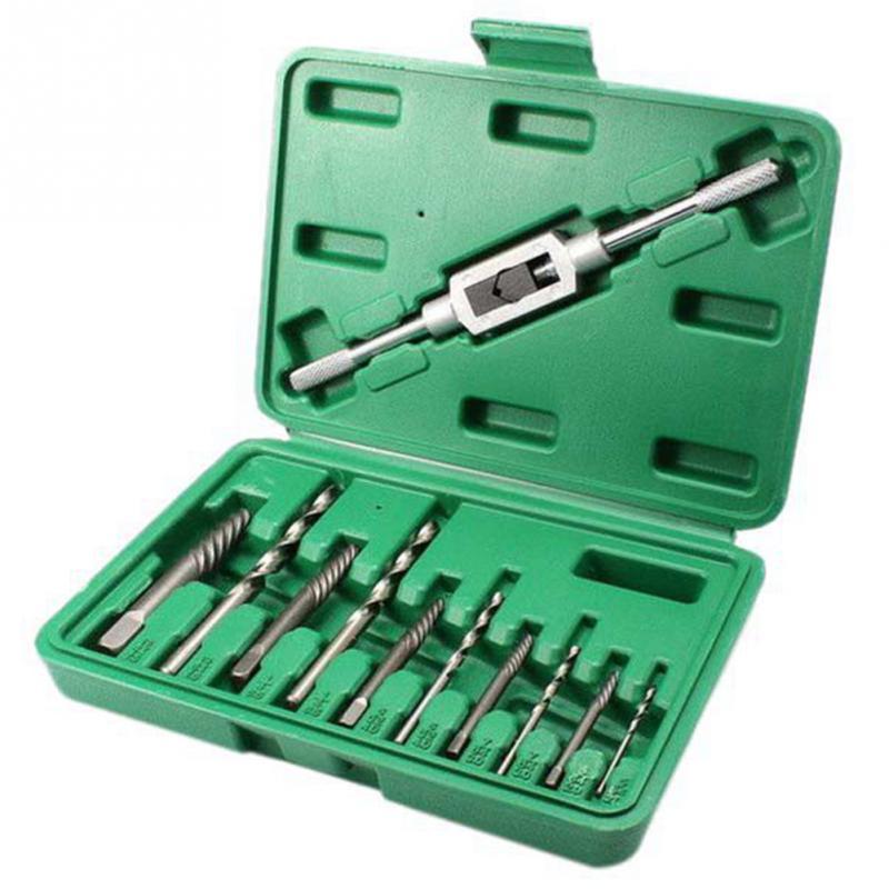 11 PCS/Set 3mm-10mm Broken Stud Spanner Screw Extractor Drill Easy Guide Broken Damaged Bolt Automotive Tools For Cars