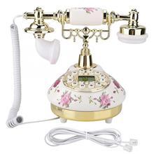 Nouveau téléphone Antique dimitation de téléphone Vintage de MS 9101 pour léquipement fixe de bureau à la maison