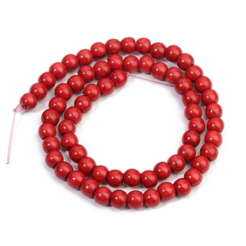 1Strand/lot Red Bead Beads 4MM 6MM 8MM 10MM 12MM 14MM 16MM Round Natural Bead Stone Bead for DIY Jewelry Making image