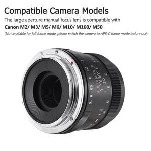 Image 4 - Andoer 50mm F1.8 Digital Camera Lens Large Aperture APS C Mirrorless Camera Len for Sony Olympus Fujifilm Fuji Canon ILDC Camera