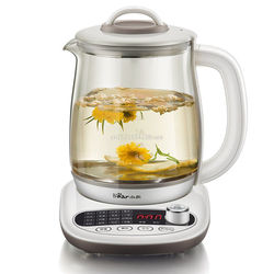 D,Health Pot Automatic Glass Kettle Scented Tea Boil Teapot 16 Functions 1.8L Insulation Reservation Adjustable Firepower B18P1