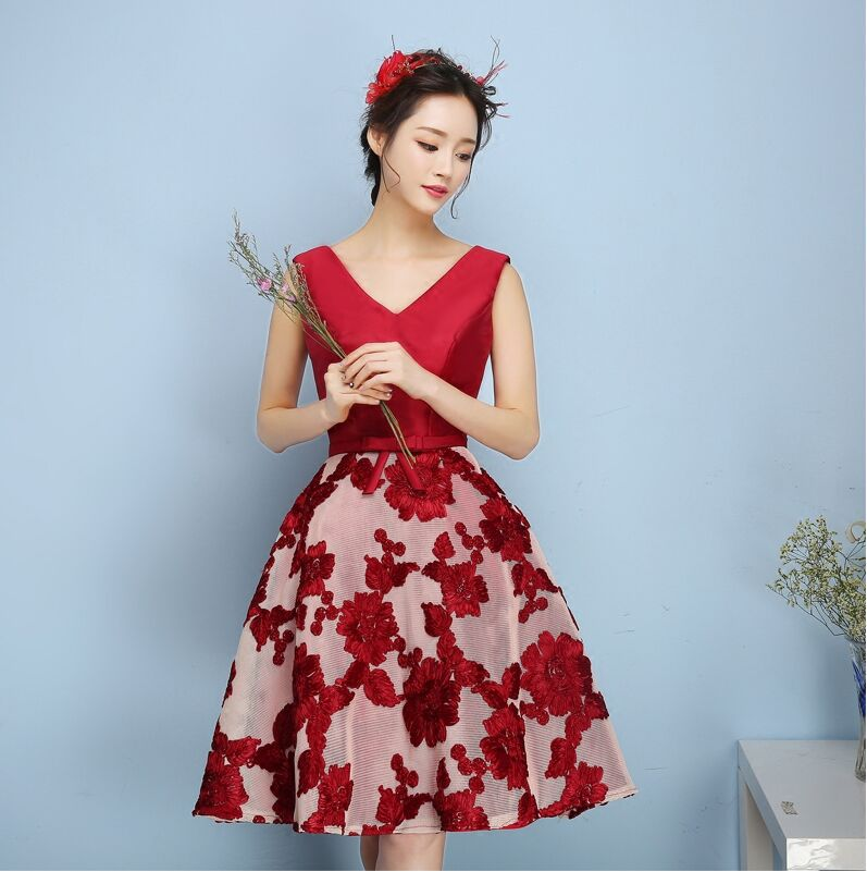 Summer New Style Tutu Short Shoulder Marriage Toast Formal Dress Host Party Late Formal Dress