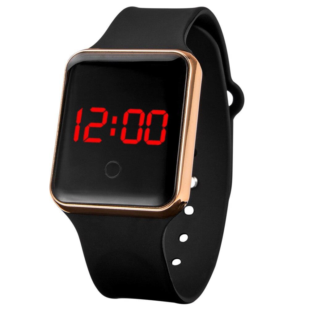 Männer Uhren 2020 Wasserdichte Digital LED Elektronische Uhr Gold Silber Zifferblatt Silikon Band Sport Uhr relogio masculino