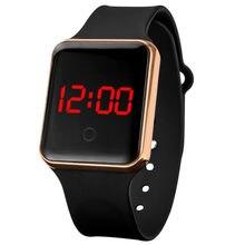 Męskie zegarki 2021 wodoodporny cyfrowy elektroniczny zegarek LED złota srebrna tarcza pasek silikonowy zegarek sportowy relogio masculino