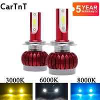 2 sztuk H7 LED H4 H1 H3 H11 H13 H8 HB1 9004 HB3 9005 HB4 9006 HB5 9007 9012 żarówki LED do reflektorów samochodowych 3000K 6000K 8000K reflektor przeciwmgielny