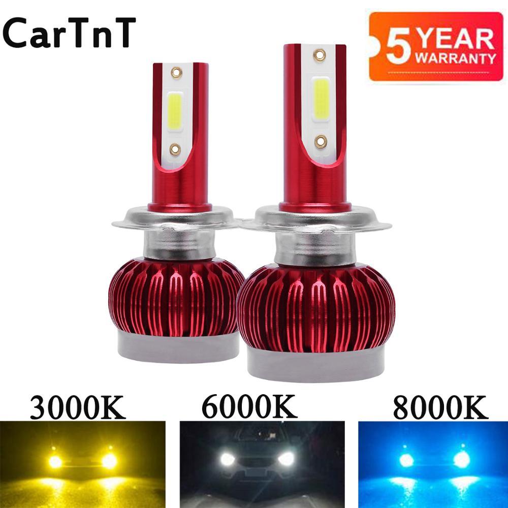 2PCS H7 LED H4 H1 H3 H11 H13 H8 HB1 9004 HB3 9005 HB4 9006 HB5 9007 9012 Car LED Headlight Bulbs 3000K 6000K 8000K Fog Headlamp