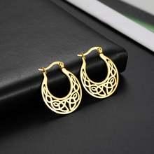 My shape большие круглые серьги кольца с ирландским узлом для