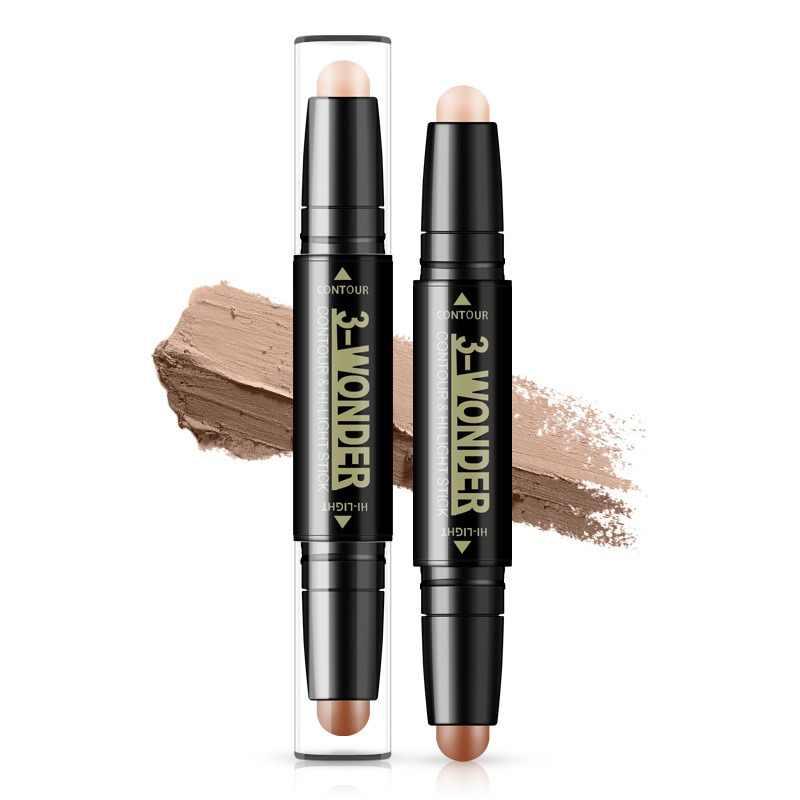 Двухсторонний хайлайтер Bronzer Stick женский хайлайтер корректоры для лица выделители ручка косметический макияж косметика