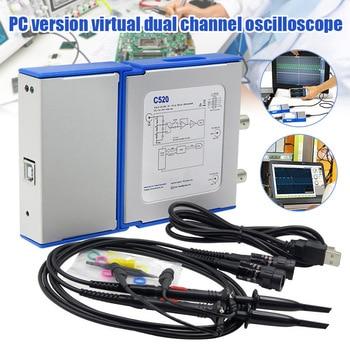 Portable Digital Oscilloscope USB Charging 2 Channels Bandwidth Virtual Lab Meters FKU66