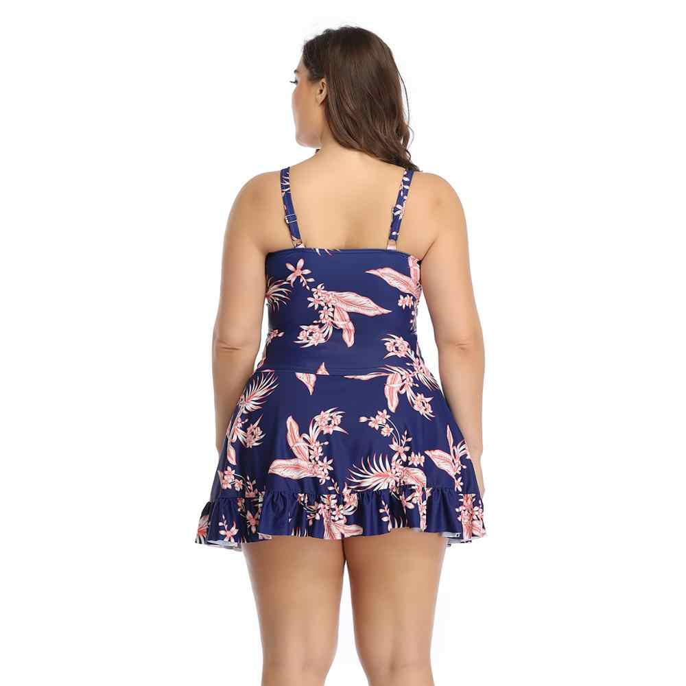 Один кусок Монокини 2020 новая веревка Тянущая Юбка Тип купальник большой размер женский большой размер купальный костюм пуш-ап купальник пляжное бикини