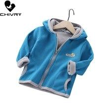 Baby Boys Girls Wool Hooded Zipper Coat Outwear Sweatshirt 2020 Autumn Winter Kids Warm Soft Fleece Jackets Children Clothing цена 2017