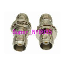 1pce TNC female nut bulkhead to TNC female jack RF coaxial adapter connector