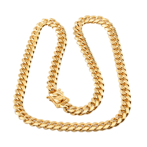 Image 3 - Cuban link chain male necklaces pride 12mm 14mm 16mm 18mm stainless steel big long gold necklace chunky necklace male accesories
