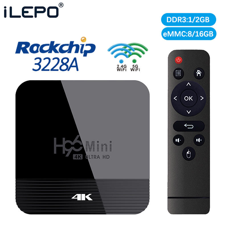 H96 MINI H8 Tv Box Android 9.0 HDMI 2.0 8GB EMMC Iptv Subscription Media Player Europe Portugal RK3228A Mag 256 PK X96 MINI