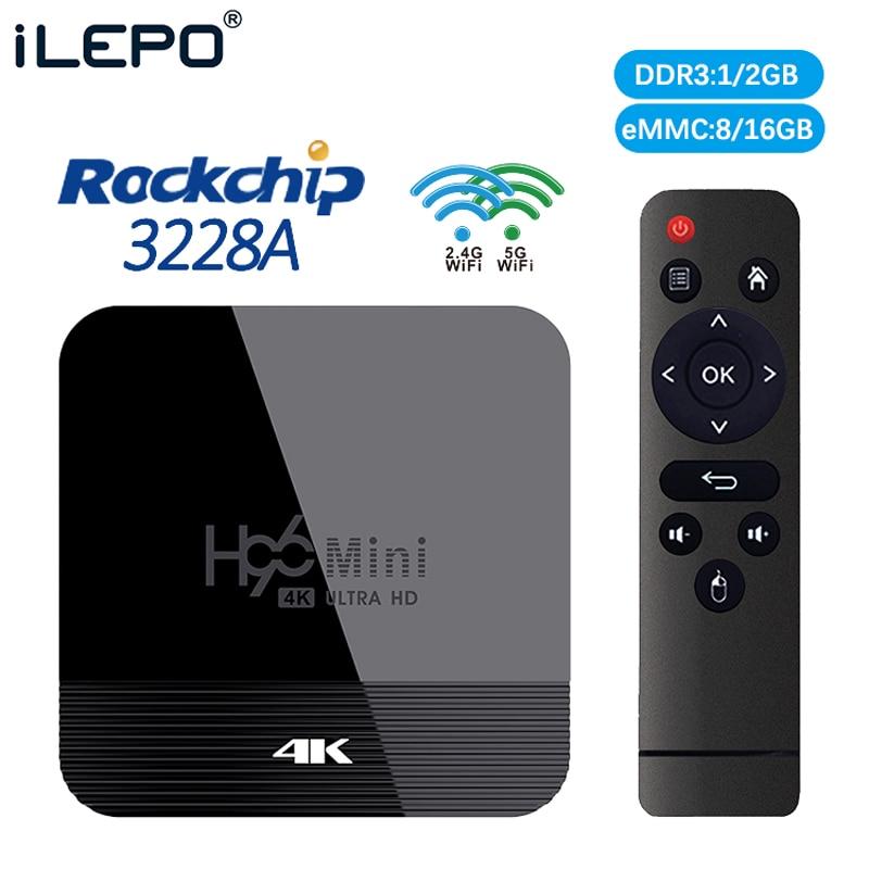 H96 MINI H8 Tv Box Android 9.0 HDMI 2.0 8GB EMMC Iptv Subscription Media Player Europe Portugal RK3228A Mag 256 PK X96 MINI
