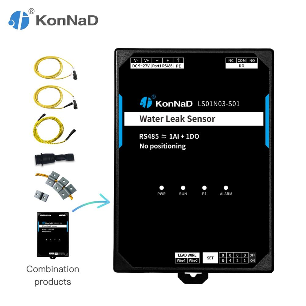 Water Leak Sensor 1-channel AI DO To RS485 Form C Relay Difference Signal No Positioning KonNaD
