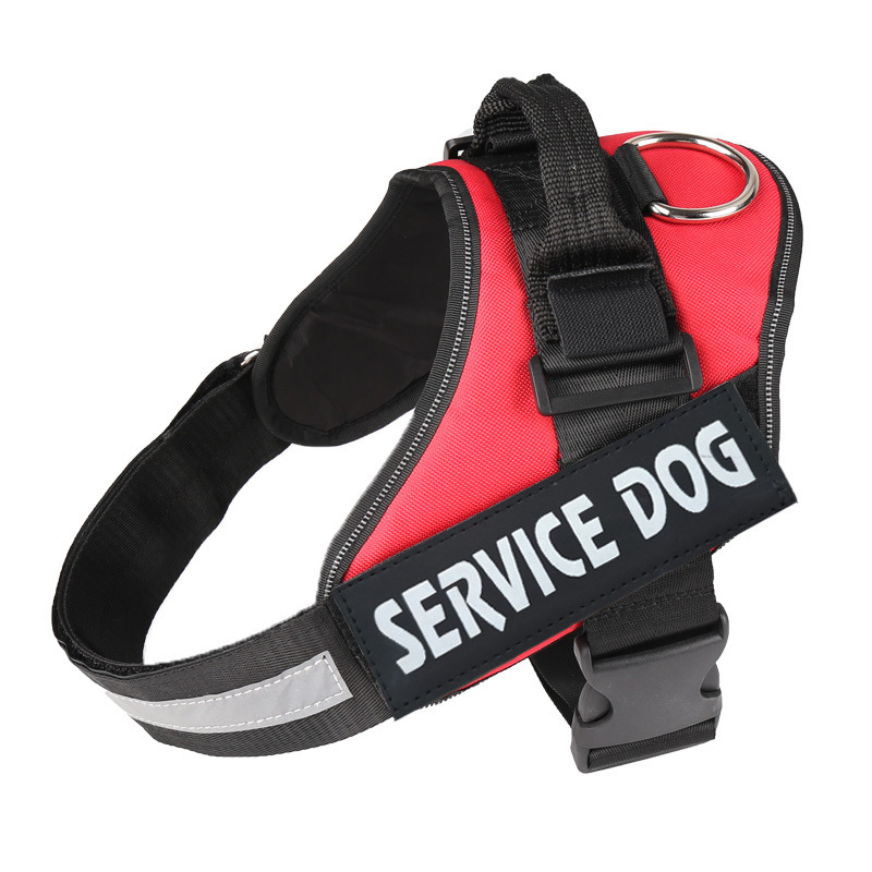Service Dog Pet Supplies Proof Punch Medium Large Dog Chest And Back Dog Supplies Hand Holding Rope