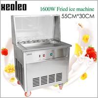 XEOLEO Roll Ice cream maker 1600W Roll ice Frying machine with 4 Buckets Fry Ice machine Stainless steel Ice cream Frier R22