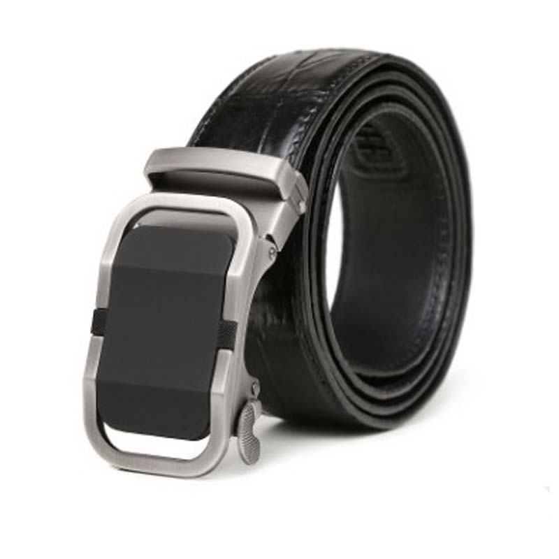 LINSHE Crocodile  The Belt  Male  Genuine Leather  The Real Thing  Automatic Buckle  Youth  Fashion  Belts  A Suit  Business