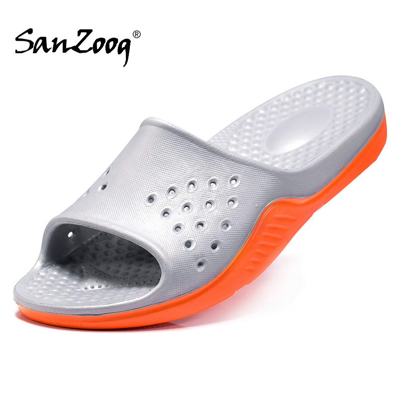 Plus Size Eva Rubber Soft Ultralight Slippers Summer 2019 Men Shoes Home Slides Slipper Beach Indoor House Outdoor Fish Slippers