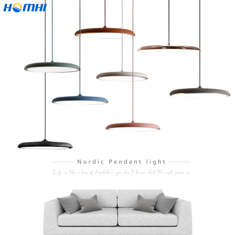 UFO Modern Pendant Ceiling Lamps Nordic Chandelier Dining Room Bedroom Decorative Lamp Hanging Round Lamp Cord Lustre Cuisine