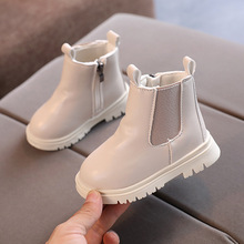 Spring Autumn Boys Girls Leather Shoes Ankle Casual Sneakers Sport For Girls Children Waterproof Boots 1 2 3 4 5 6 Year