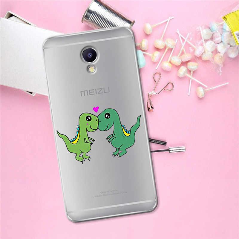 De dibujos animados lindo para Meizu M3S M5 M5S M5C M6 M3 M5 M6 nota U10 U20 cubierta de la caja del teléfono de Coque Etui capa Funda de tapa animal gato