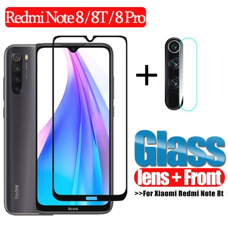 2 in 1 Glass for Xiaomi Redmi Note 8t 8 t 8 pro 7 9pro Camera Protective glass for Redmi 8 8A Screen Protector for Redmi Note 8t(China)