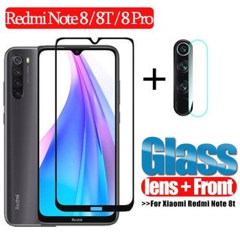 2 In 1 Glass For Xiaomi Redmi Note 8t 8 T 8 Pro Camera Lens Protective Glass For Redmi 8 8A Screen Protector For Redmi Note 8t