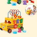 Обучающая игрушка  обучающая деревянная многофункциональная форма цифр  соответствующие автобусным игрушкам для детей  подарок  Дошкольны...