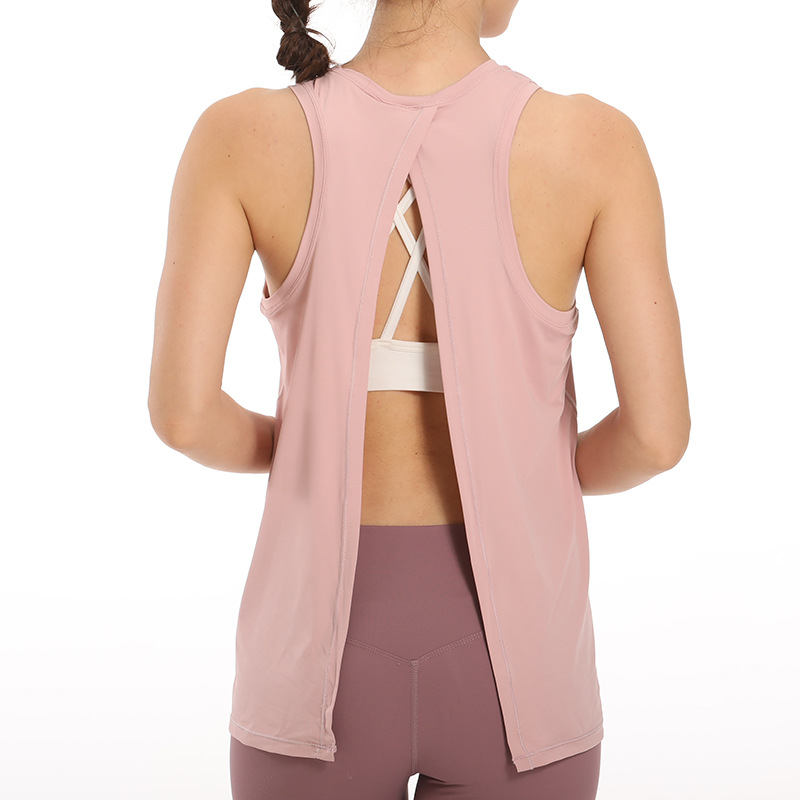 Spring and Summer New Beauty Back Fashion Yoga Clothes Blouse Top Sports Sleeveless Fashion Fitness Clothes for Women