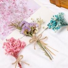 1pc mini flores reais natural secas buquê de flores diy para decorações de festa de casamento dia dos namorados flores bouquet foto adereços