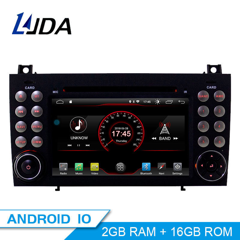 LJDA 2 Din Android 10.0 Car DVD Player For <font><b>Mercedes</b></font> <font><b>Benz</b></font> W171 2008-2011 <font><b>SLK</b></font> Class R171 <font><b>SLK200</b></font> SLK230 SLK280 Multimedia GPS Radio image