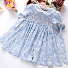 summer baby girls smocked dresses pary flower floral beautiful kids clothes boutiques holiday 3166535