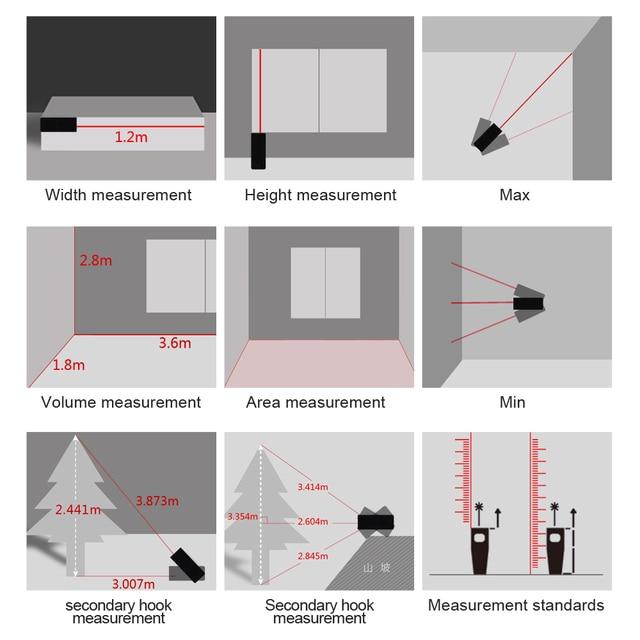 Купить mileseey x5 лазерный дальномер medidor лазерная профессиональный картинки цена