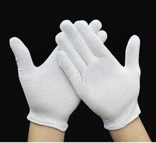 5 Pairs White gloves cotton soft thin labor work gloves jewelry silver inspection work gloves