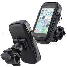 אופנוע טלפון מחזיק תמיכה Moto אופניים אחורית מראה Stand הר עמיד למים קטנוע אופנוע טלפון תיק עבור סמסונג