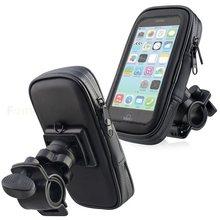 Support de téléphone étanche pour moto, vélo et scooter, sac de rétroviseur pour Samsung