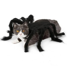 Pet Dogs Cats Cosplay Spider Clothes Pet Halloween Costume For Dog Cat Spider Bat Festival Party Role Play Dressing Up Clothes(China)