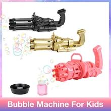 Детские игрушки, Пузырьковая машина, трехцветный электрический пистолет для пузырьков 2 в 1, воздуходувка для пузырьков с чашей для мыла/бут...