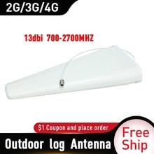 13dBi 700 2700MHz חיצוני יומן תקופתי אנטנת אות מאיצי 2G 3G 4G אנטנה עבור נייד אות מהדר חיצוני 4G אנטנה