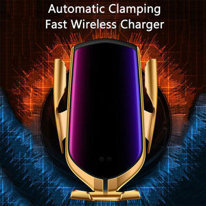Image 1 - Automatic Clamping Wireless Car Charger Mount Infrared Sensor QI Induction Charging Holder For iPhone X XS Max Samsung xiaomi 9