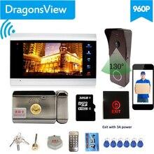 [Wi Fi Домофон с замком 】Dragonsview 7 дюймовый Wi Fi видеодомофон домофон Беспроводная дверная камера электронный замок
