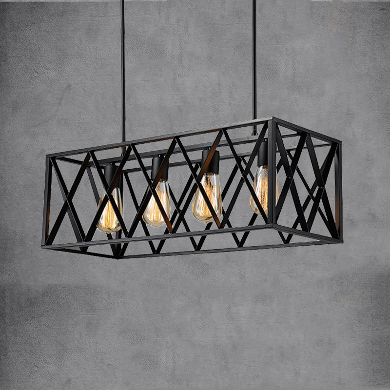 E27 Loft Chandelier Iron Vintage Droplight Living Dining Room Bar Club Cafe Restaurant Light Industry Pendant Lamp Headlight
